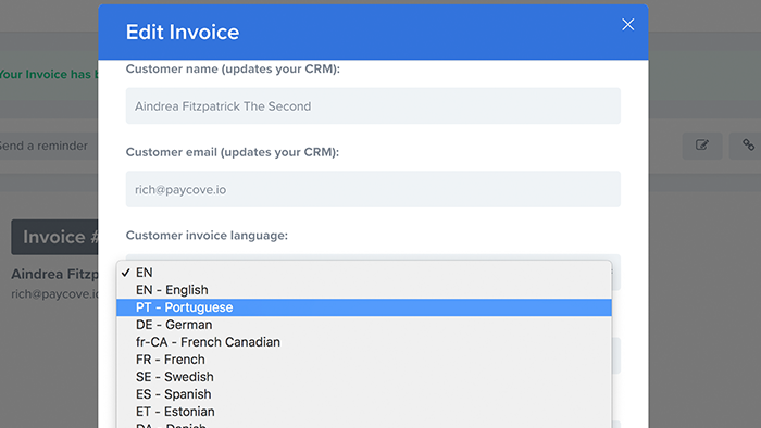 base invoicing integration